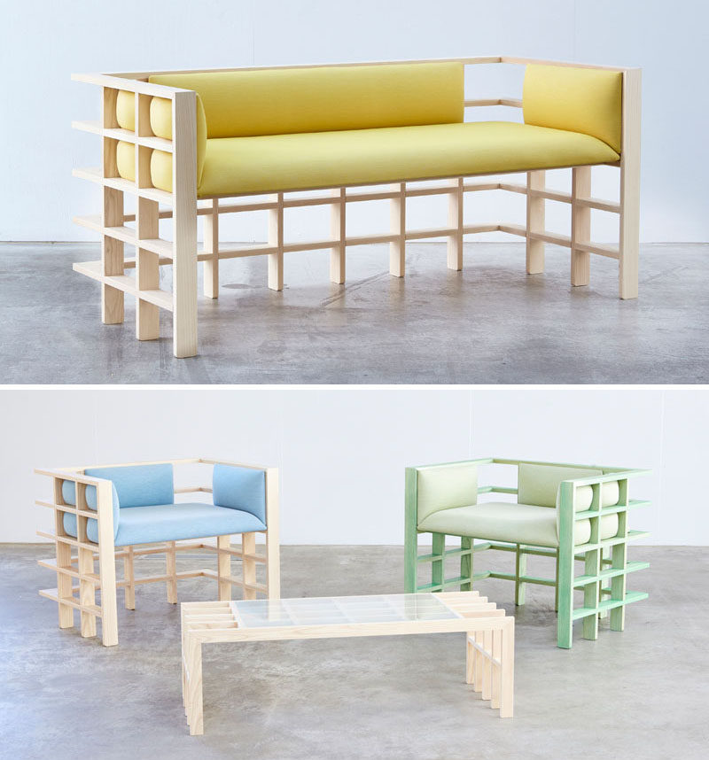 Australian based designer Elliot Bastianon, has created a new modern furniture collection named 'Straight Lines'. #ModernFurniture #Design #Couch #Chair #Wood