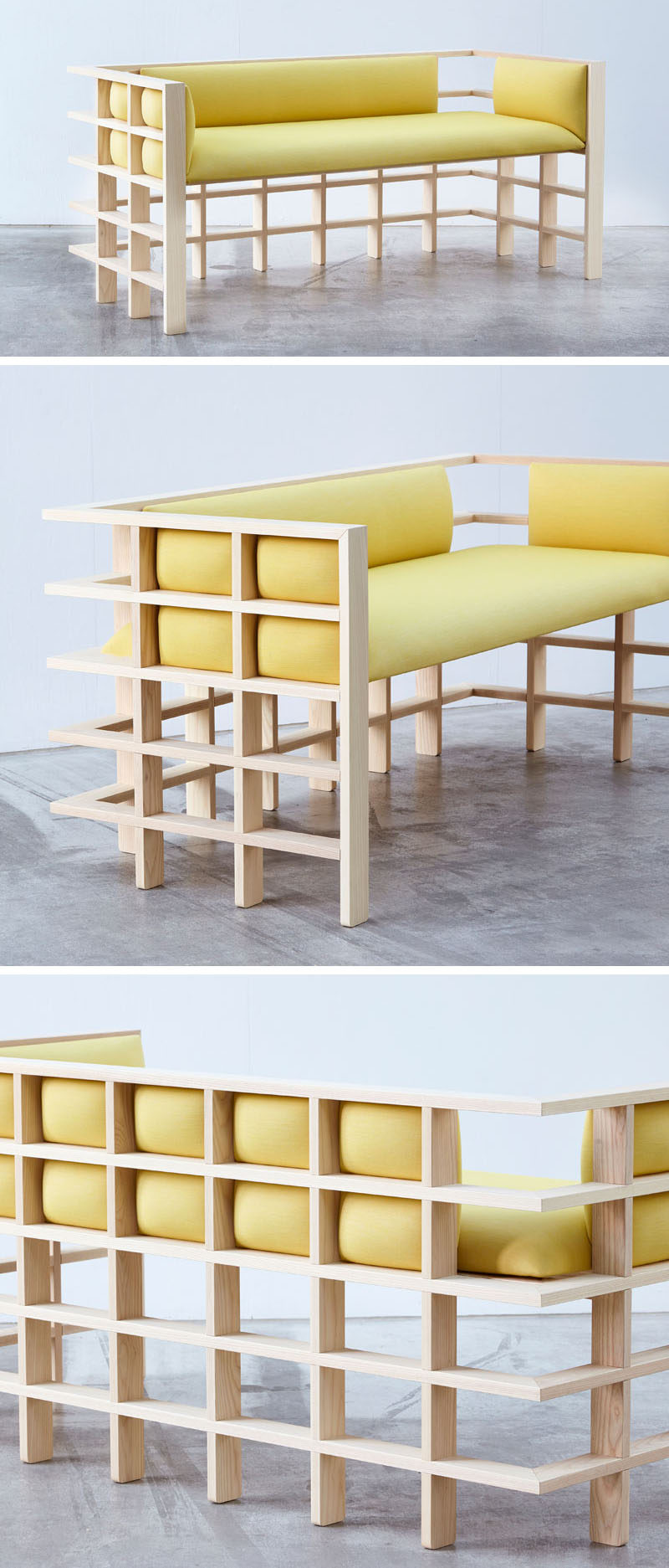 Australian based designer Elliot Bastianon, has created a new modern furniture collection named 'Straight Lines'. #ModernFurniture #Design #Couch #Wood