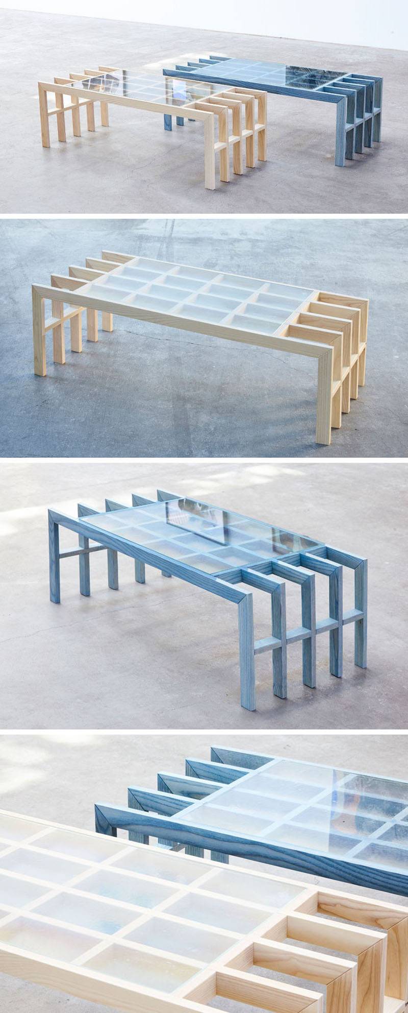 Australian based designer Elliot Bastianon, has created a new modern furniture collection named 'Straight Lines'. #ModernFurniture #Design #CoffeeTable #Wood